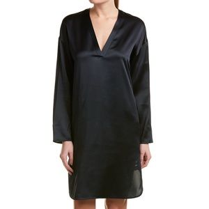 Vince silk shift dress Navy S